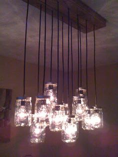 Live and Learn: DIY Chandelier D &I saw similar ones for BIG BUCKS.
