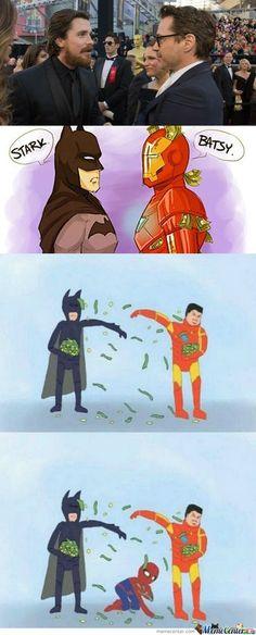 poor spider man has no money