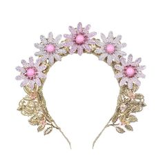Baby Pink Tiara Rich Tiara Wedding gold Rich pink crown headband bridal jewelry tiara swarovski crystal bride dolce womens gift royal  Fantastic hair accessories for weddings, prom, parties or other special occasions.  - Handmade - Size: 5 cm (2) high. - Tiara (open front the back) flexible. - **100% FULL MONEY BACK GUARANTEE** Unlike others sellers, WE STAND behind our brand ILoveCrowns and provide 100% FULL MONEY BACK guarantee, if, For Whatever Reason, You dont Absolutly Love your…