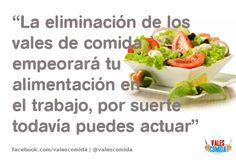 La eliminación de los vales de comida empeorará tu alimentación en el trabajo, por suerte todavía puedes actuar. #valesdecomida #alimentación