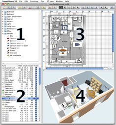 Sweet Home – Fantastic FREE CAD Home Design software. Terrific for remodeling projects or Dream Home planning. Free Interior Design Software, Home Interior Design, Interior Doors, Interior Paint Sprayer, Entry Door With Sidelights, Entry Doors, Patio Doors, Software Download, Internal Folding Doors