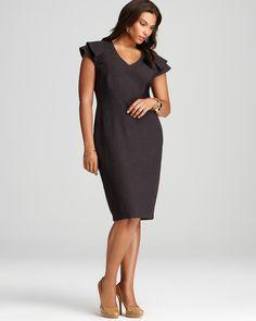 anna scholz plus Folded Shoulder Dress - New Arrivals - Plus Sizes - Plus Sizes - Bloomingdale's