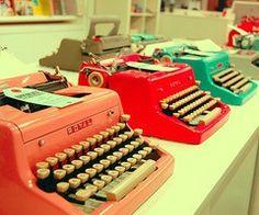 Typewriters. I want one.