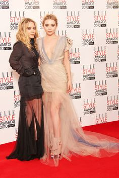 Mary-Kate and Ashley Olsen at the Elle Style Awards in London-England, February 2010