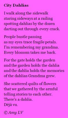 The Poem Farm: SPARK 10! Response - #214 - City Dahlias