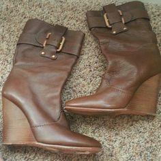 Chloe Brown Wedge Boots Brown wedge boots Chloe Shoes