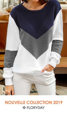 Shop Floryday for affordable Sweaters. Floryday offers latest ladies' Sweaters collections to fit every occasion. Mens Winter Sweaters, Best Jeans For Women, Iranian Women Fashion, Crochet Fashion, Blouse Styles, Crochet Clothes, Knit Crochet, Knitwear, Knitting Patterns
