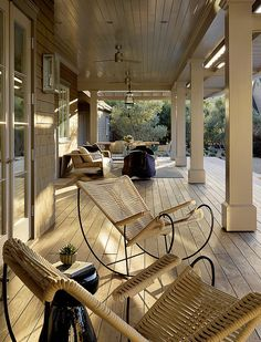 LOVE a stunning porch for entertaining or pure relaxation enjoying the quiet. #simplyperfection  Wine Country Retreat by Andrew Mann Architecture