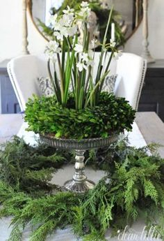 Absolutely stunning ideas for Christmas table decorations christmas tablescapes , Absolutely stunning ideas for Christmas table decorations Absolutely stunning ideas for Christmas table decorations. Green Christmas, All Things Christmas, Winter Christmas, Christmas Home, Christmas Crafts, Christmas Greenery, Christmas Flowers, Christmas Ideas, French Country Christmas