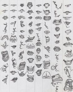 Amazing Learn To Draw Eyes Ideas. Astounding Learn To Draw Eyes Ideas. Cartoon Mouths, Drawing Cartoon Faces, Comic Drawing, Mouth Drawing, Nose Drawing, Art Reference Poses, Design Reference, Drawing Tutorials, Drawing Tips