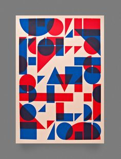 Shapes Screen Print by Two Times Elliott — Designspiration