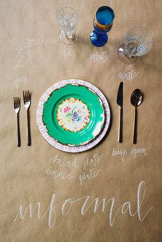 A Guide For Proper Place Settings: Informal | Waiting on Martha