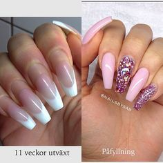 Beforeand after  #nails #nail #fashion #style #TagsForLikes #cute #beauty #beautiful #instagood #pretty #girl #girls #stylish #sparkles #styles #gliter #nailart #art #opi #photooftheday #essie #unhas #preto #branco #rosa #love #shiny #polish #nailpolish #nailswag