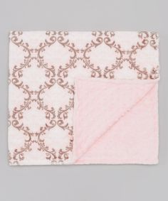 Take+a+look+at+the+Lolly+Gags+40''+x+60''+Baby+Pink+Damask+Minky+Large+Stroller+Blanket+on+#zulily+today!