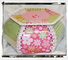 crochet greeting card boxes - I have one of these made by one of my grandmas