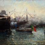 Pompeo Mariani, il maestro dell'impressionismo italianoPompeo Mariani, Feste Colombiane – La Lancia Reale, 1892, Olio su tela, 72,3 x 94,4 cm