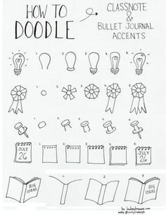 doodle how to draw accents_bujo #LampDrawing