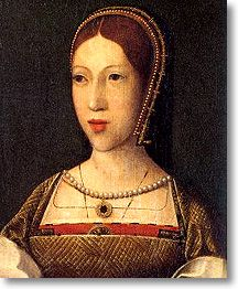Portrait said to be of Margaret Tudor, elder daughter of King Henry VII and older sister of Henry VIII. Married off to King James IV of Scotland, she became the power behind the throne after her husband's death. She was mother of King James V of Scotland, grandmother of Mary Queen of Scots, and great-grandmother of King James I of England, founder of the Stewart (Stuart) dynasty followed the Tudors with the death of Queen Elizabeth I. Early 16th century painting by an unknown artist. P-D Art...