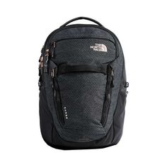 9d1e95c692d Women's The North Face Surge Backpack - TNF Black Heather/Burnt Coral  Metallic Back to