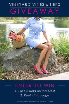 vineyard vines x Tieks Giveaway: Win a $200 vineyard vines Gift Card + a $200 Tieks Gift Card! Ends 9/23 at 11:59pm PDT.