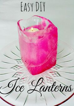 Easy DIY Ice Lanterns - Beauty Through Imperfection