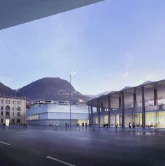 Durisch + Nolli, Smarch, yellow z urbanism architecture · Polo Sportivo e degli Eventi