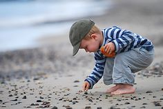 Searching for sea shells by the seashore