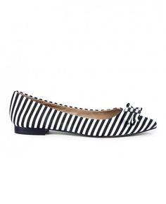 Striped Bow Flat