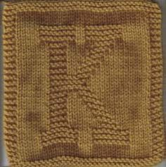 Knit Alphabet Cloths; Every Alphabet Available & Numbers Too!