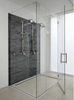 Frameless Glass Shower Enclosure - contemporary - showers - new york - ATM Mirror and Glass