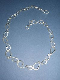 Silver Jewelry. I love unusual chains.