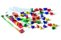 Busy Farm :  Boost reading readiness skills with this hands-on set of 36 colorful, soft-molded farm animals. The 12 double-sided cards with 23 progressively challenging activities spark a series of a-ha moments. Learn in 3D: visual associations, sorting, matching, counting, alphabet & phonemic awareness, and more.