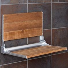 Nice option for the shower (CC) Crosslinks is excited to offer our new Burmese Teak wood one person folding shower bench. Featuring a high strength easy close mechanism that allows the bench to fold up and stay up! Back rest is Wood Shower Bench, Shower Seat, Shower Benches, Bath Shower, Bathroom Showers, Shower With Bench, Tin Shower, Bath Tubs, Handicap Bathroom