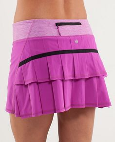 """Super cute running skirt/shorts. My favorite part is the pocket in the back for your keys, etc. - update, bought this in black and I love it! Would recommend the """"tall"""" versions for added length."""