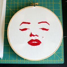 Marilyn redwork by mega4beth, via Flickr