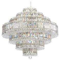"""Design Your Own Schonbek Plaza Collection 27 1/2"""" Crystal Pendant Chandelier   Style # N9068"""