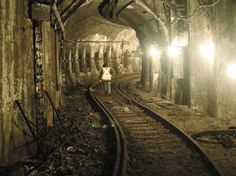 Abandoned subway tunnel.