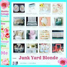http://etsy.me/1KTeg7V  #shabby #shabbychic #cottagechic #etsyshop #etsy #treasury #junkyardblonde #vintage  #vintagedecor