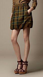 Workable definitely. Linen Check Puffball Skirt