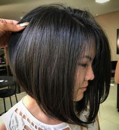 60 Fun and Flattering Medium Hairstyles for Women Asian Bob Blowout Haircuts For Medium Hair, Long Bob Hairstyles, Short Hair Cuts, Medium Hair Styles, Curly Hair Styles, Bob Haircuts, Medium Bob With Bangs, Long Bob Cuts, Wedding Hairstyles
