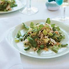 Crab, Apple and Watercress Salad with Walnut Vinaigrette | Food & Wine. Click on the photo for the complete recipe.  ENJOY!