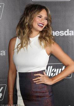 Shoes Post — Chrissy Teigen Shows Off Growing Baby Bump in...