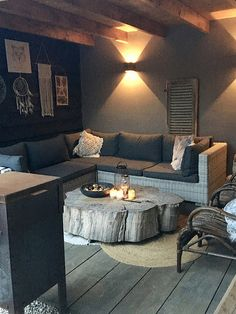 A look inside Nathalie - De Wemelaer - Tree trunk lounge set canopy - Outdoor Kitchen Patio, Outdoor Spaces, Outdoor Decor, Outdoor Patios, Outdoor Kitchens, Outdoor Living, European House Plans, European Home Decor, Bar Lounge