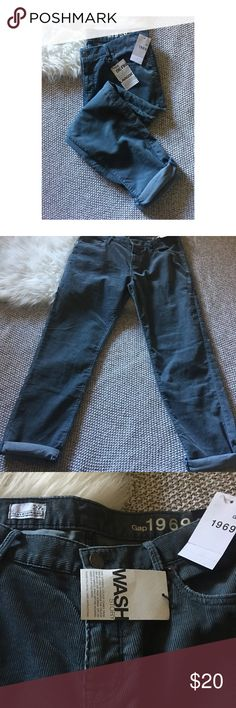 Gap Sexy Boyfriend Pants Gap corduroy sexy boyfriend pants. Brand new with tags. Blue. Size 27r. GAP Jeans Boyfriend