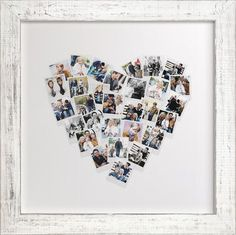 Upload pictures and have a heart collage made - LOVE THIS!! Perfect for wedding photos, an anniversary gift, or for your own home. #heartcollage #wallart #photocollage #harvardhomemaker