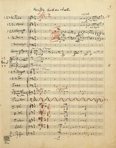 Symphony No. 5 Gustav Mahler Autograph manuscript of the full score [1903]The Mary Flagler Cary Music Collection (by pierpontmorgan)