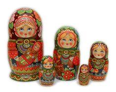 Girl with a Baby Babushka Dolls - AU$103.84 : Matryoshka dolls, Babushka dolls and Russian Nesting dolls Store