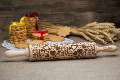 Love Rolling Pin #rolling pin #baking #cooking #Homedecor #kitchentools #homemadecookies #doughtools #potterytools #bakinglovers #cookinglovers #giftforwomen Yummery - best recipes. Follow Us! #kitchentools #kitchen