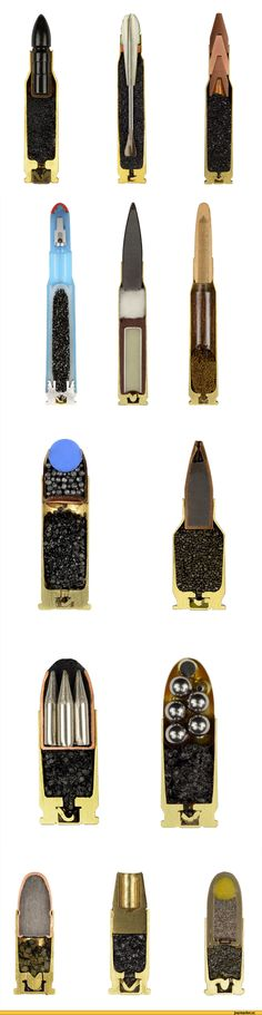Ammunition bullets of World War II by Sabine Pearlman.