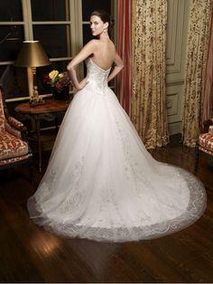 strapless satin tulle ballgown wedding   ... Ball Gown  Romantic Tulle over Satin Strapless Ball Gown Bridal Dress